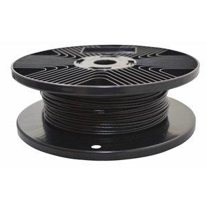 Staalkabel 1.7/2.5mm zwart 100 m geplastificeerd