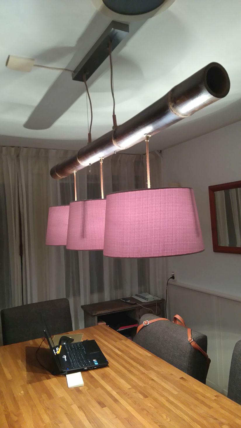Lampen ophangen met staaldraad