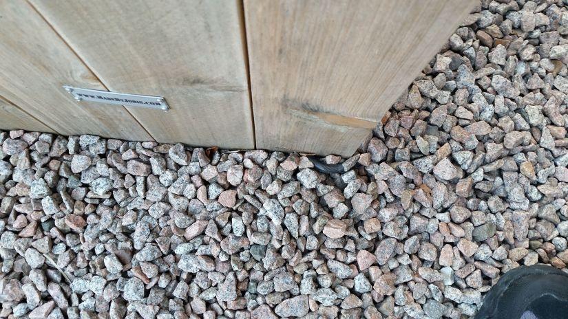 terraskabel wegwerken