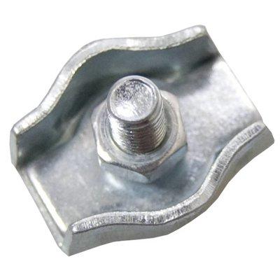 Stahldrahtklem verzinkt 8mm simplex