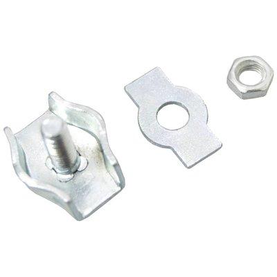 Staaldraadklem verzinkt 8mm simplex