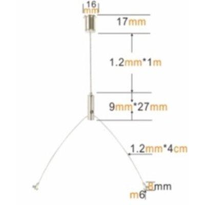 Technx Aufhängesystem mit Drahtseil 2 - Led