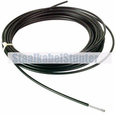 Fitness Staalkabel 6mm 20 meter zwart