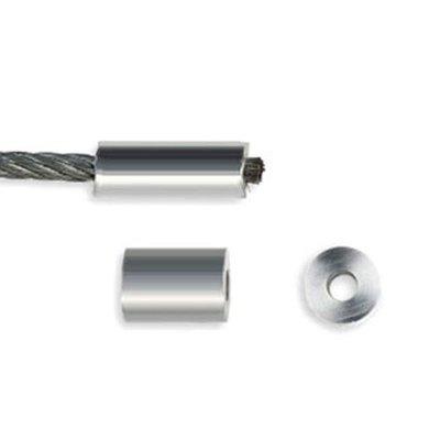 Drahtseil Klemmhülsen 4mm aluminium