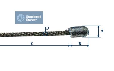 staalkabel - 3 meter ophangsysteem