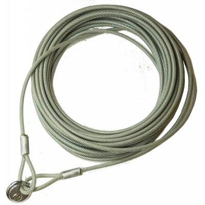 Kabel met lussen 25 meter met discus