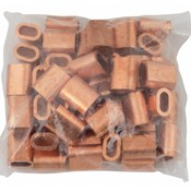 Kupfer Drahtseilpressklemmen 6mm 50 Stück