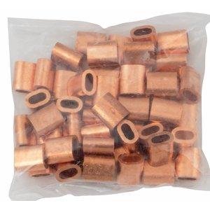 Drahtseilpressklemmen Kupfer 4mm 50st
