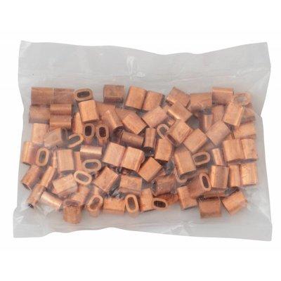 Kupfer Drahtseilpressklemmen 2mm 50 Stück