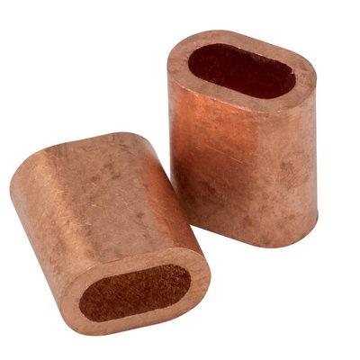 Kupfer Drahtseilpressklemmen 1mm 50 Stück