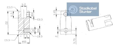 Staalkabel ophanging plexiglas