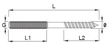 metrisch draad en houdraad duo schroef