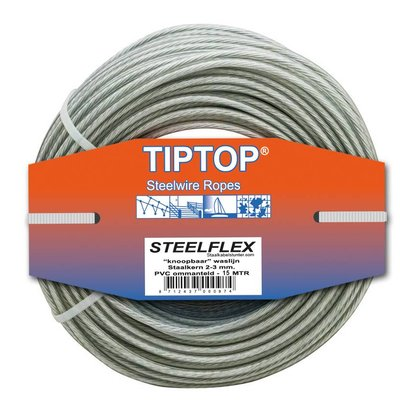 Tiptop Stahldraht - Wäscheleine     15 Wäscheleine machen