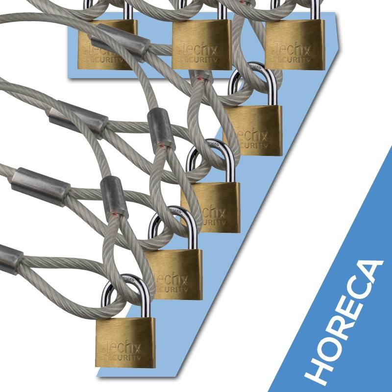 Schloss Kabel 90 cm 7x Horeca Aktion kaufen - Staalkabelstunter