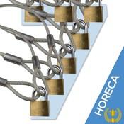 Kabel mit Schleifen 500 cm met Vorhängeschloss