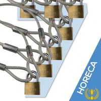Schloss Kabel 5m 7x Horeca Aktion
