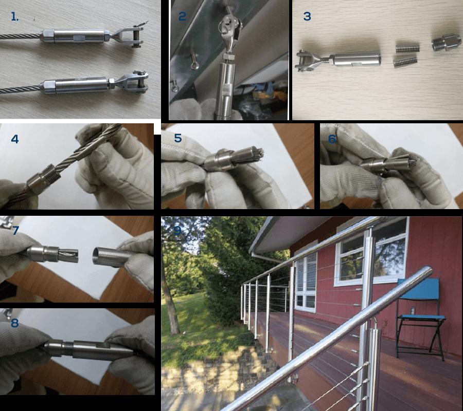 Reling Zelfmontage set