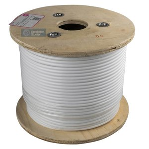 Staalkabel 3/6 Rvs Wit geplastificeerd 100 meter
