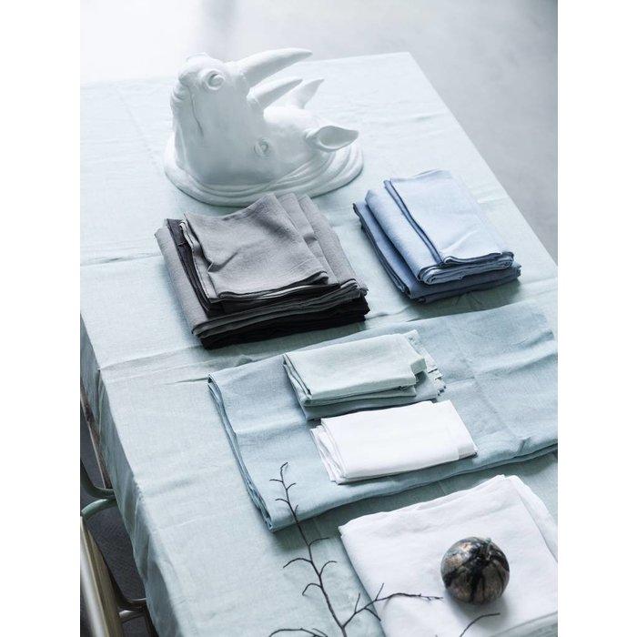 6 linnen servetten grijsblauw