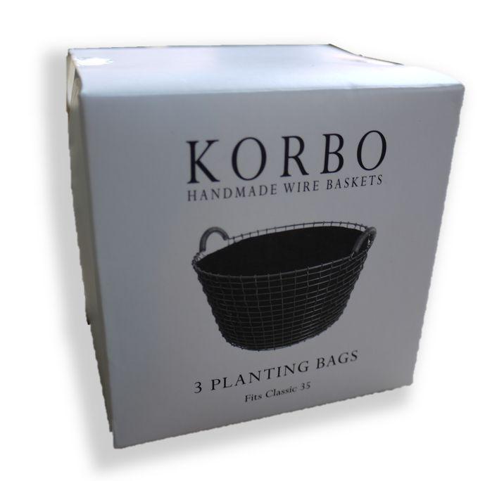 Plantzakken voor Korbo manden
