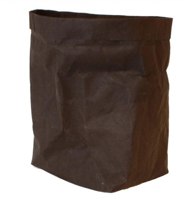 wasbare zak van gelooid papier: zwart