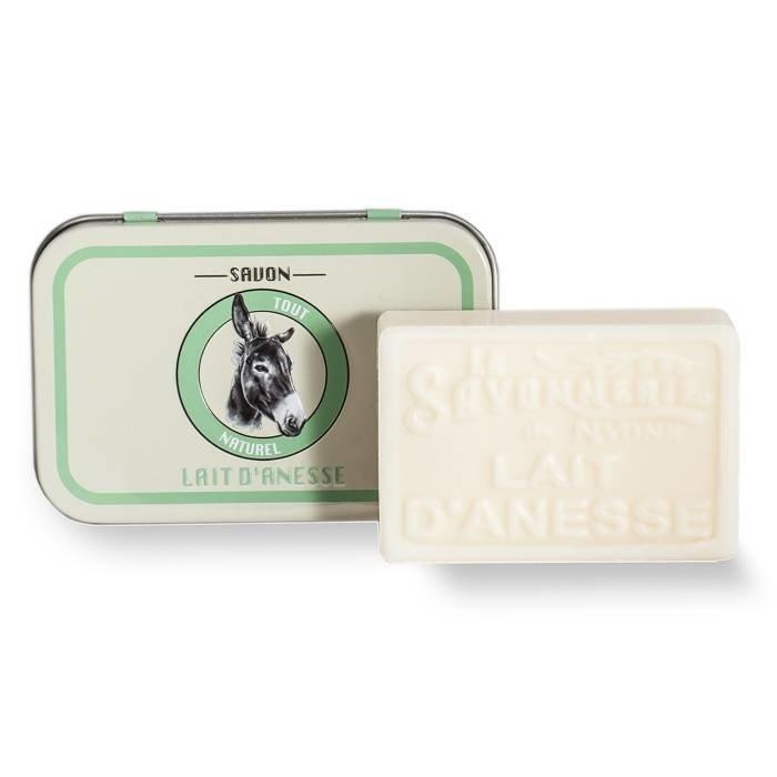 Romige, zachte zeep van ezelinnemelk