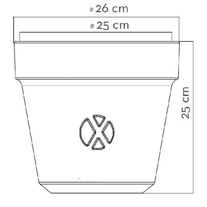 FLEX / POT is een flexibele rubberen plantenpot