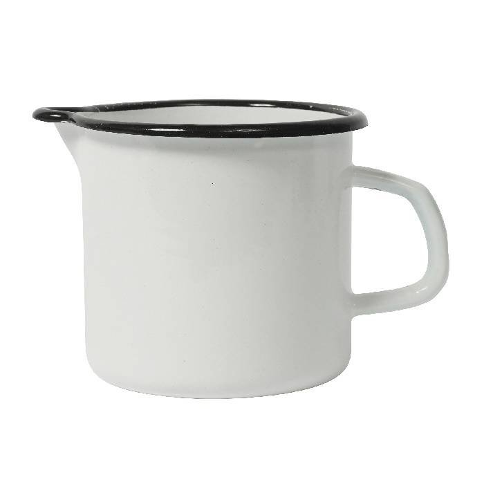 Witte emaille maatbeker - 1 liter