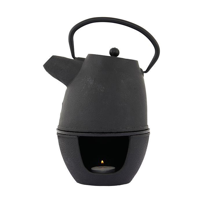Gietijzeren theepot van 1,1 liter met warmtebron