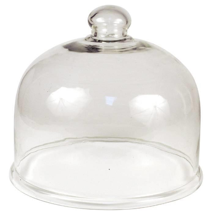 Glazen kweekklok: Ø 22 cm / h 22 cm