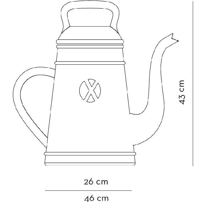 Grote gieter Lungo: 12 liter