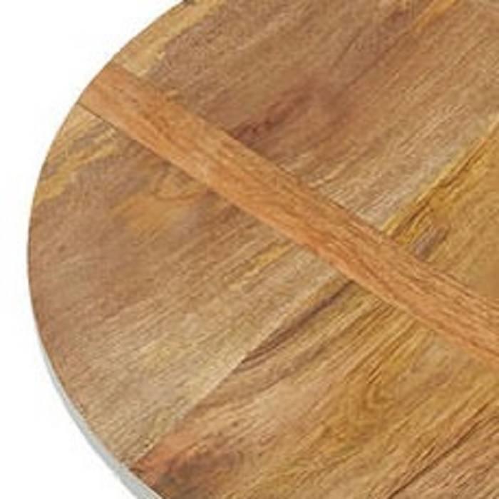 Hele grote ronde serveer- / presenteerplank van mangohout: Ø 57 cm