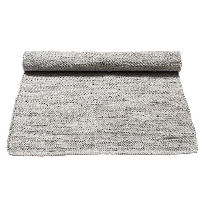 Gerecycled wasbaar katoenen vloerkleed: grijs