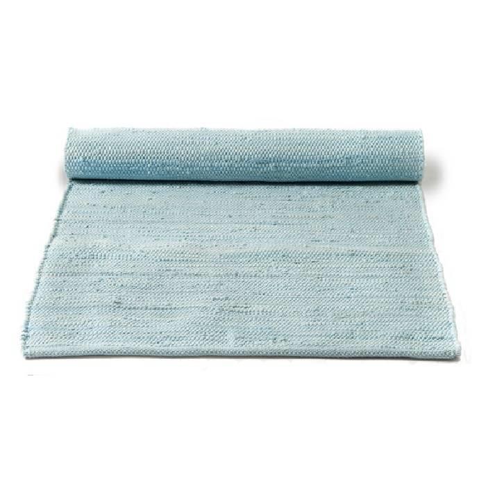 Gerecycled wasbaar katoenen vloerkleed: Daydream Blue