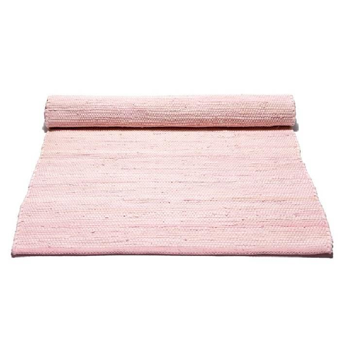 Gerecycled wasbaar katoenen vloerkleed: misty rose