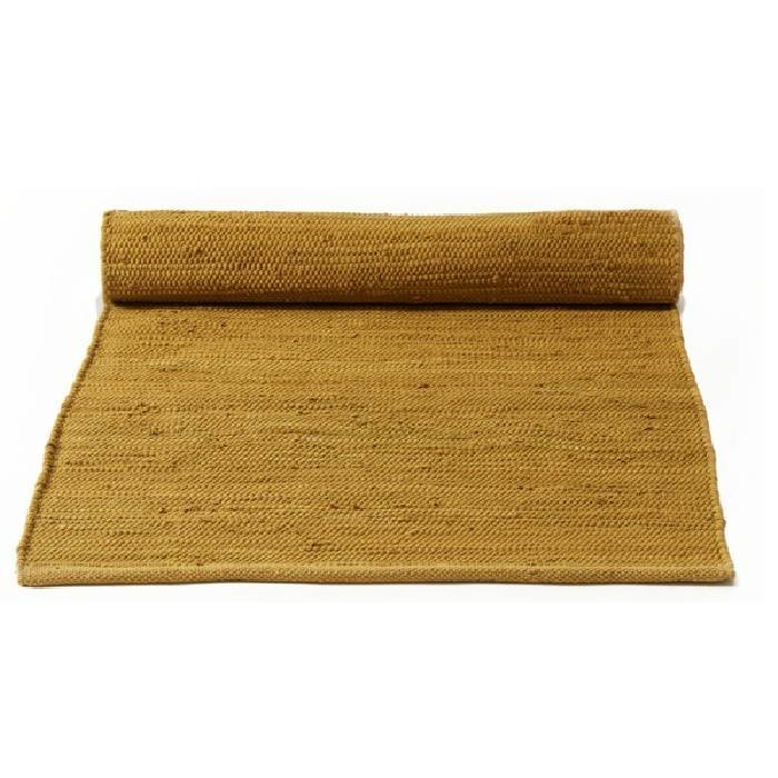 Gerecycled wasbaar katoenen vloerkleed: burnished amber