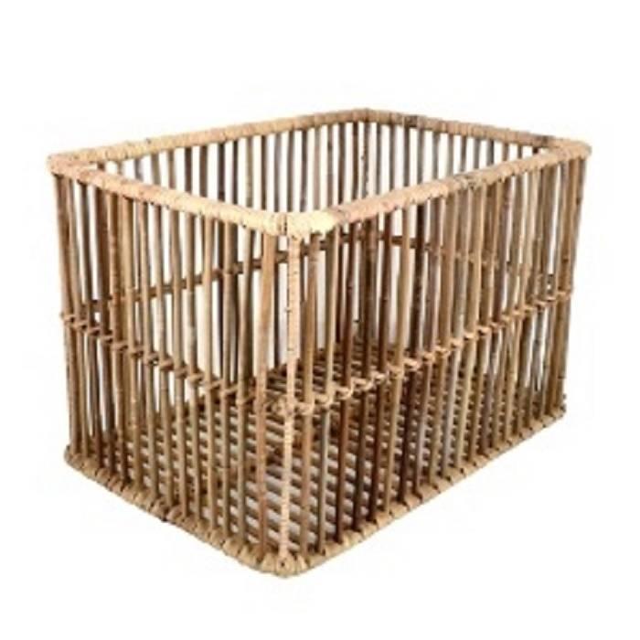 Stevige open geweven mand / krat van bamboe