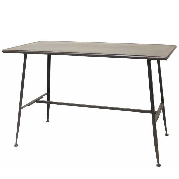 Metalen tafel in de kleur 'Factory Black'