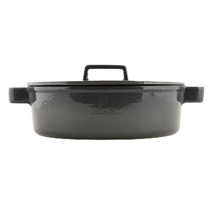 Gietijzeren zwarte braadpan Ø 28 cm / h 10 cm / 4,8 liter