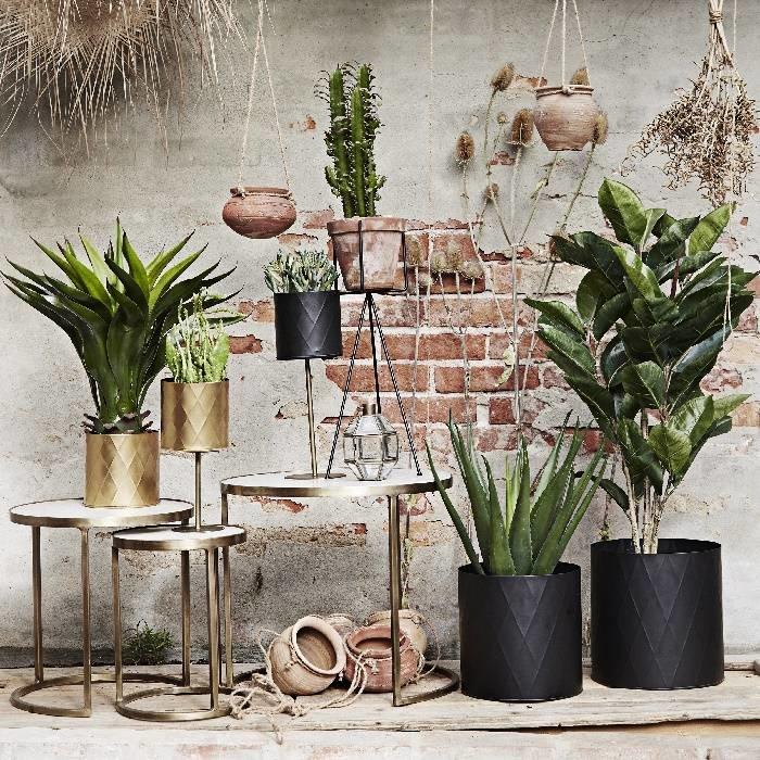 Gerecycled aardewerken hangpotje