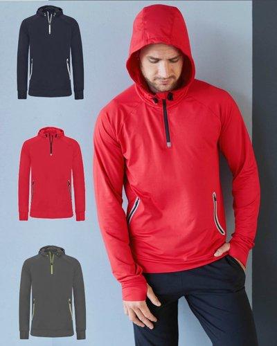 ProAct PA360 Uni-sex Sportsweater met capuchon en halsrits