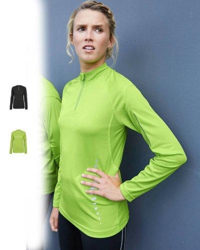 ProAct Dames sportshirt lange mouw en met rits