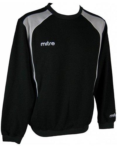 Mitre Mitre Apparel Baxter Fleece Sweat Top Men Black/Neutral/Grey