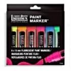 Paintmarker set wide fluor 6 stuks