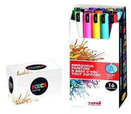Uni-Posca paintmarkerset PC1MR 16 stuks