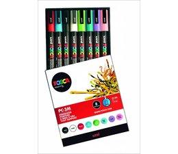 Uni Posca paintmarkerset PC3M 8 stuks