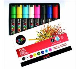 Uni-Posca paintmarkerset PC8K 8 stuks
