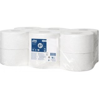 Tork Tork Mini Jumbo Toiletpapier 1-laags Wit T2 Advanced
