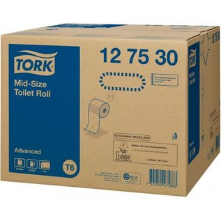 Tork Tork Mid-size Toiletpapier 2-laags Wit T6 Advanced