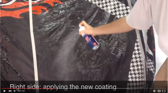 Video Kite refit coating